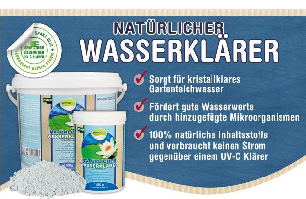 primuspet BioNature Natürlicher Wasserklärer für Ihren Gartenteich