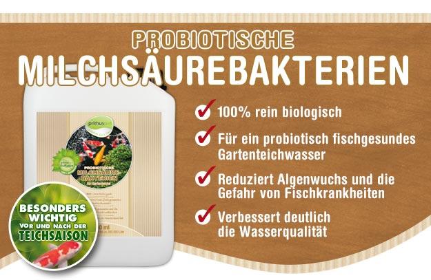 primuspet BioNature Probiotische Milchsäurebakterien für Ihren Gartenteich